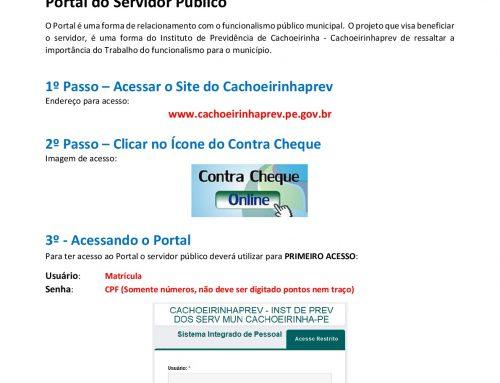Portal do servidor público como acessar